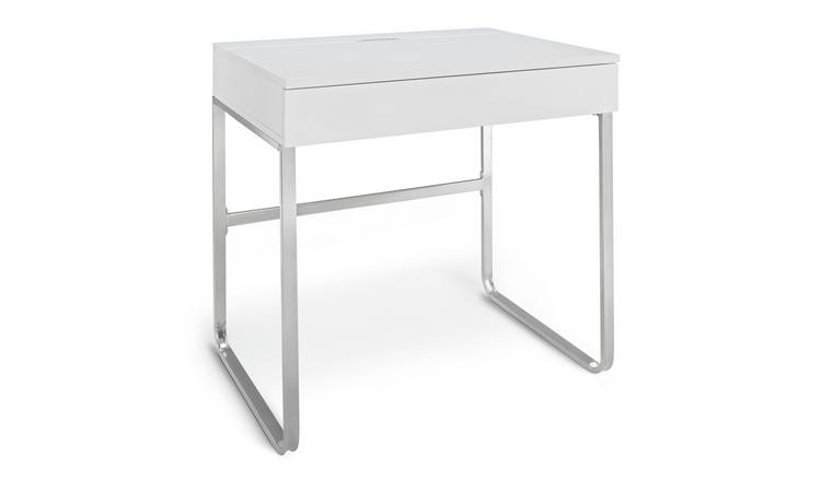 Argos Home Sammy 1 Drawer Desk - White Gloss