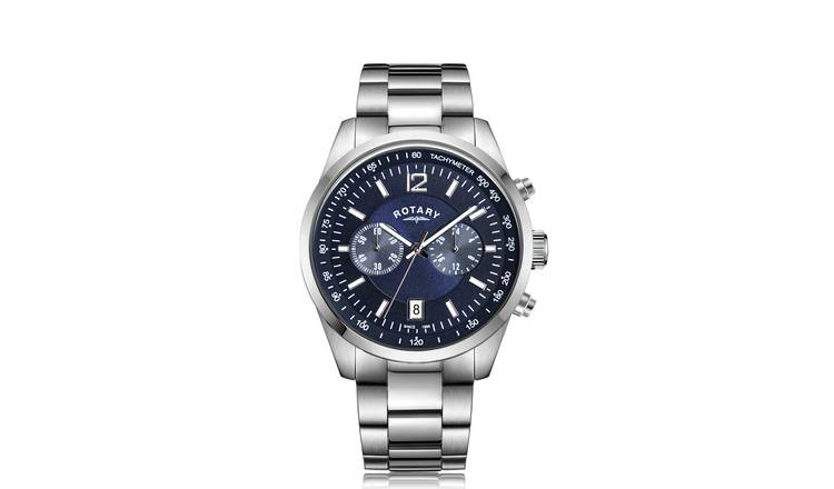 Rotary Men's Chronograph Stainless Steel Bracelet Watch