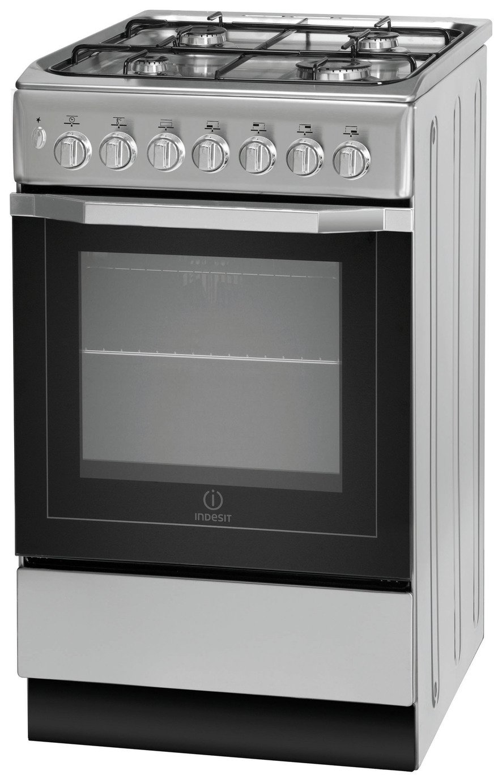 indesit i5gsh1s dual fuel cooker silver. Black Bedroom Furniture Sets. Home Design Ideas