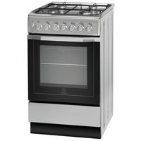 Indesit I5GSH1S Dual Fuel Cooker - Silver.