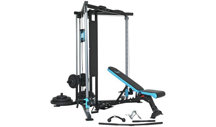 Men's Health 100kg Cable Cross Over Home Multi Gym