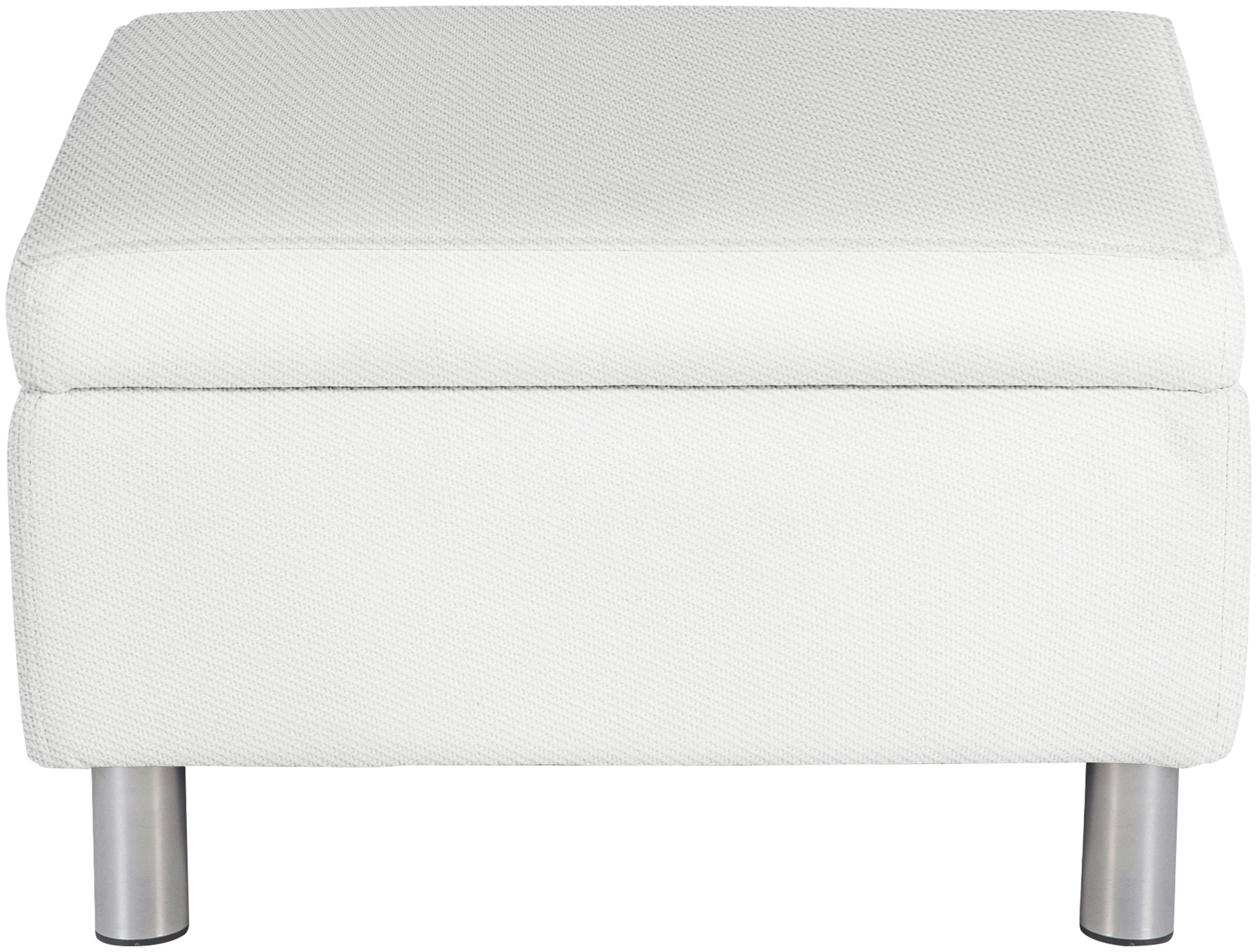 ColourMatch - Moda - Fabric Footstool - Super White