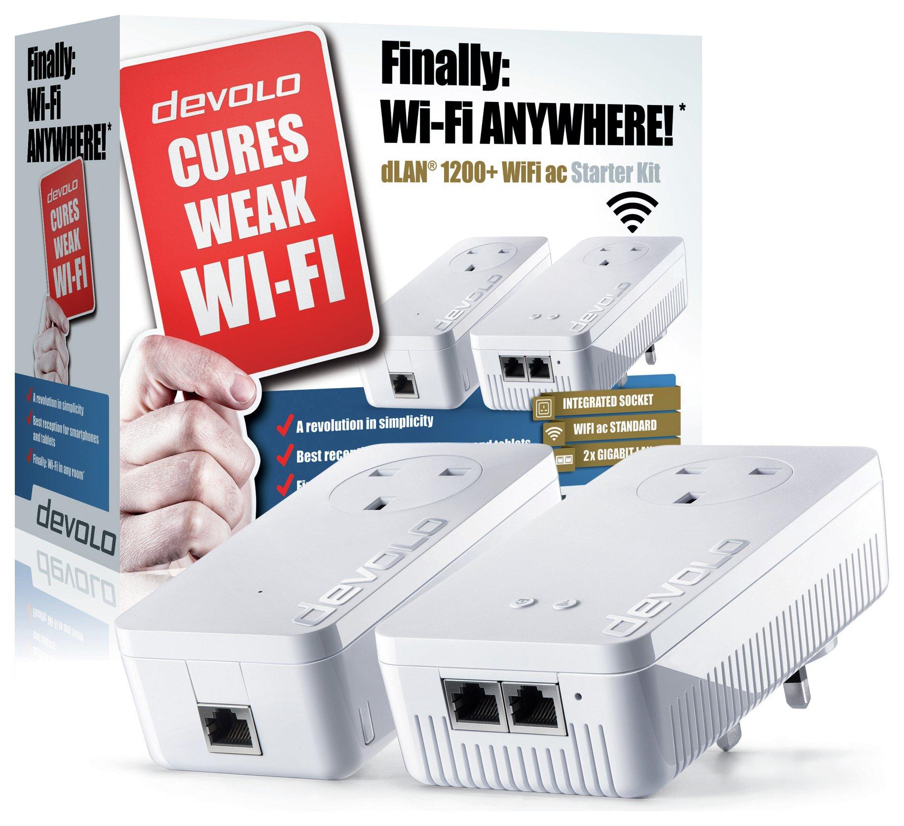 Devolo Devolo 1200 Plus Powerline Wi-Fi AC Kit.