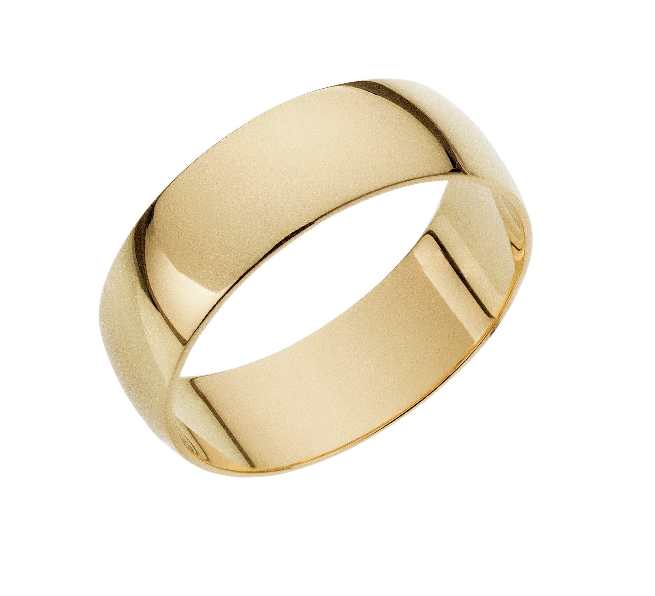 18ct Gold D-Shape Wedding Ring