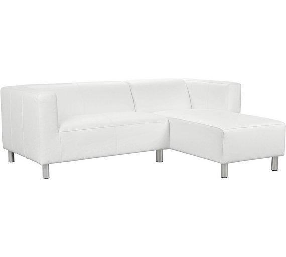 Buy Argos Home Moda Compact Right Hand Corner Sofa - White | Sofas ...