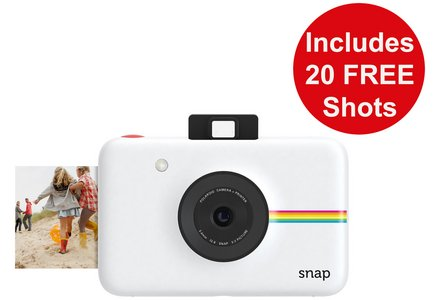 Polaroid Snap Instant Print Digital Camera 20 shots - White.
