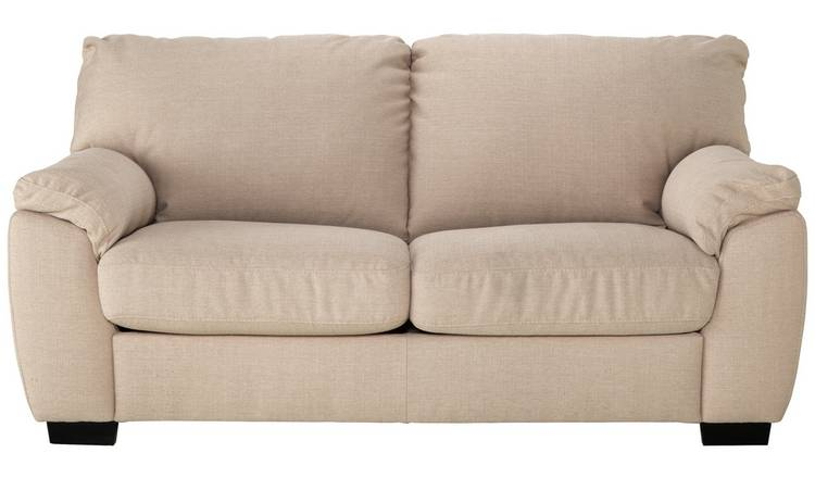 Argos Home Milano 2 Seater Fabric Sofa Bed - Beige