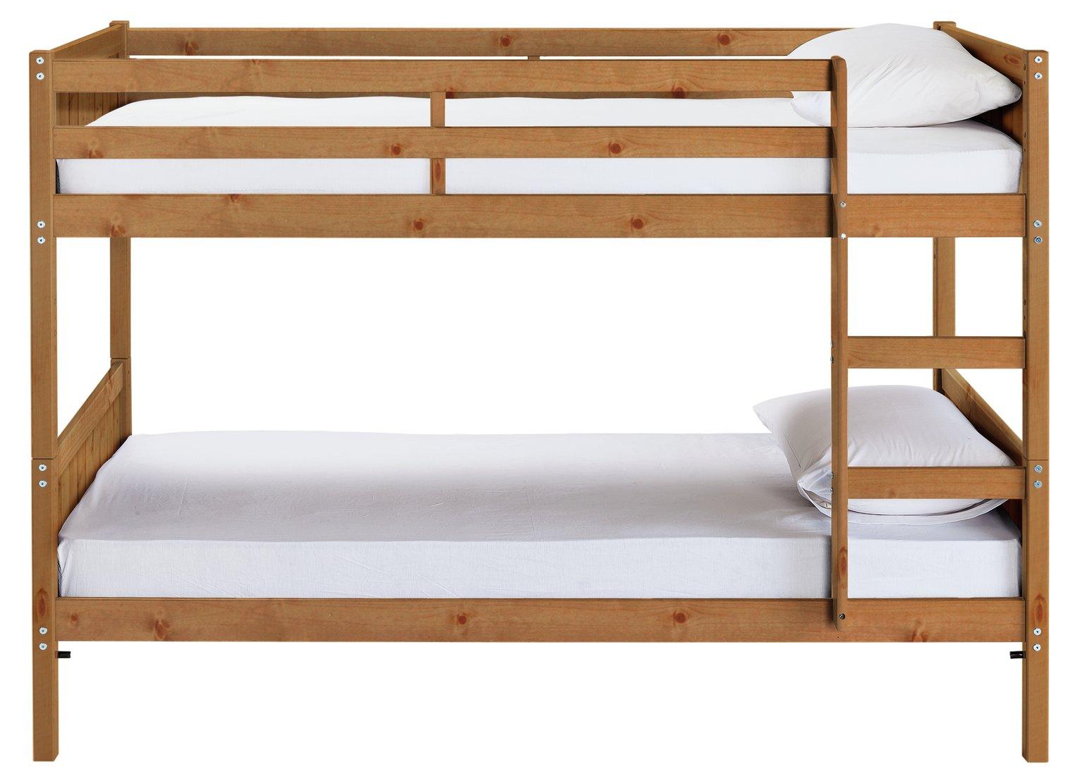 Argos Home Detachable Pine Bunk Bed, Drawer & 2 Mattresses