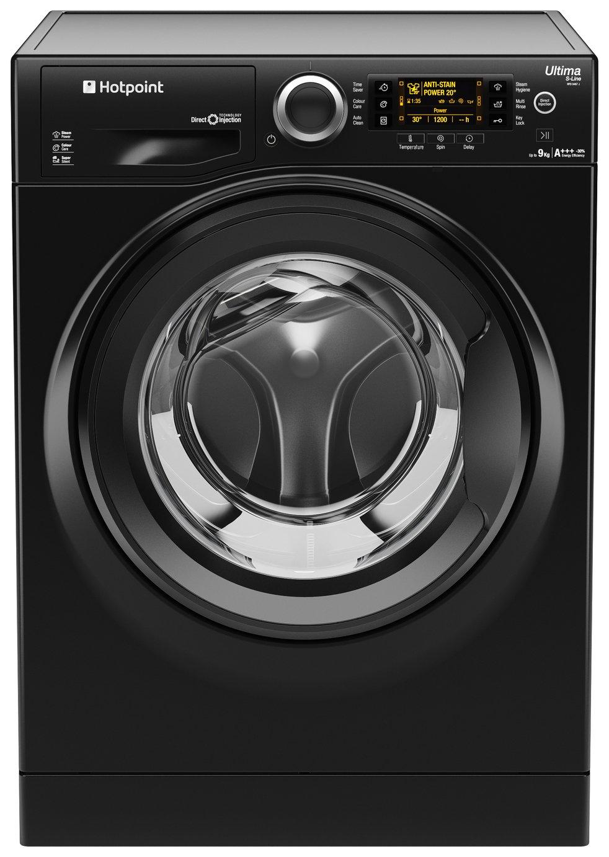 Image of Hotpoint RPD9467JKK 9KG 1400 Spin Washing Machine - Black.