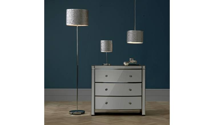 Argos Home Sparkling Fabric Shade - Silver