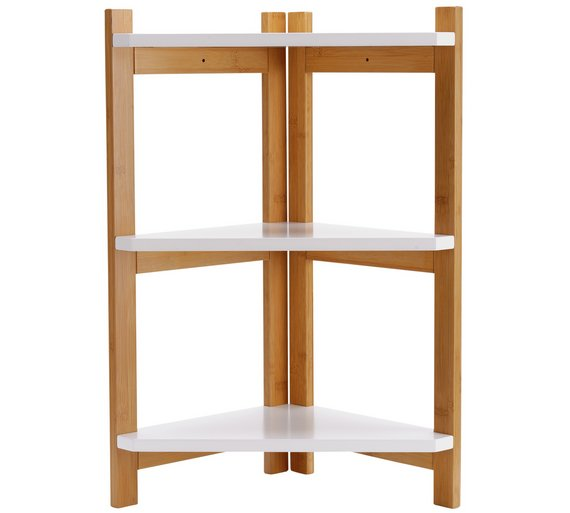 Buy Collection 3 Tier Corner Shelf Unit Two Tone At