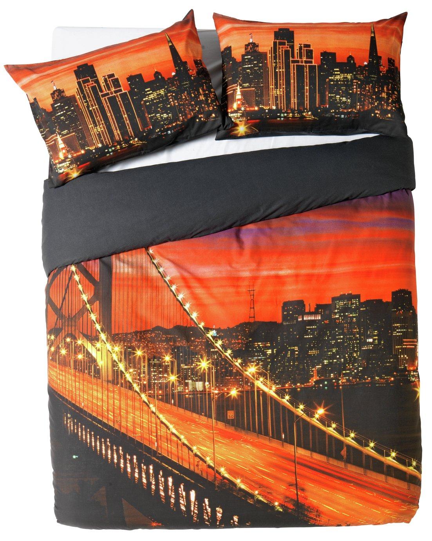 home  oakland bay bridge  bedding set  double