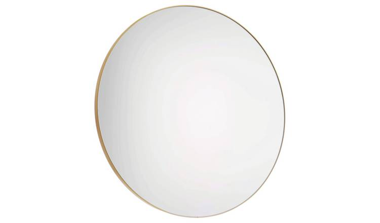 Habitat Large Round Metal Mirror - Gold