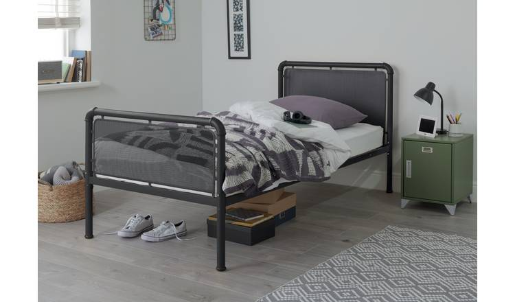 Argos Home Maddox Single Metal Bed Frame - Black