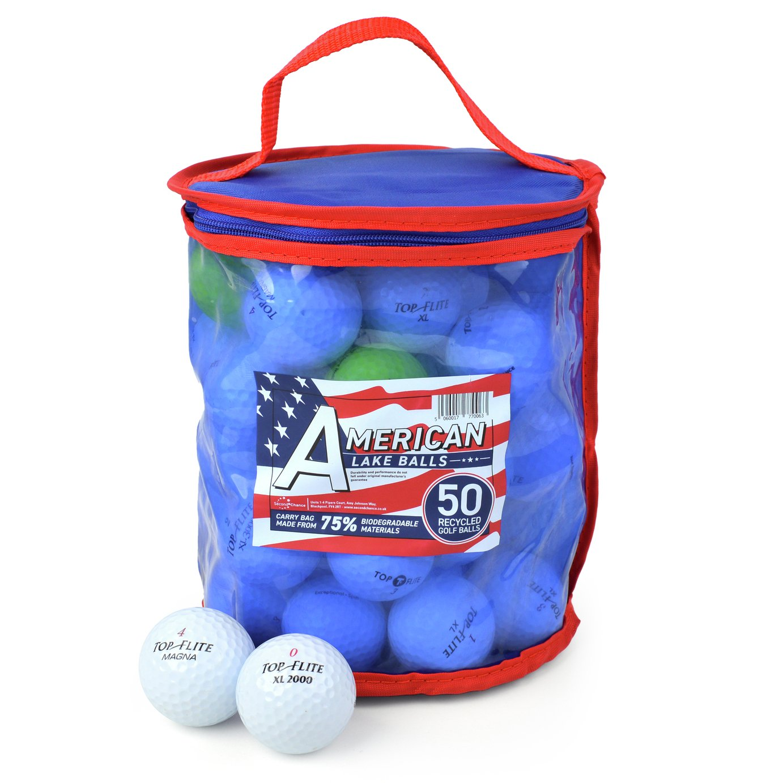 Top Flite Premium Grade A Lake Golf Balls - 50 Pack