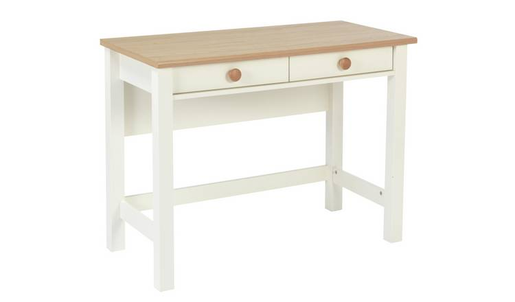 Argos Home Winchester 2 Drawer Desk - Cream Two Tone