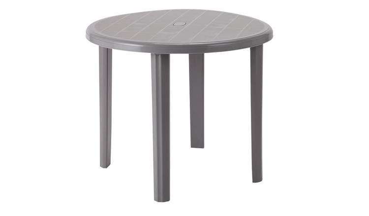 Argos Home Round 4 Seater Garden Table - Light Grey