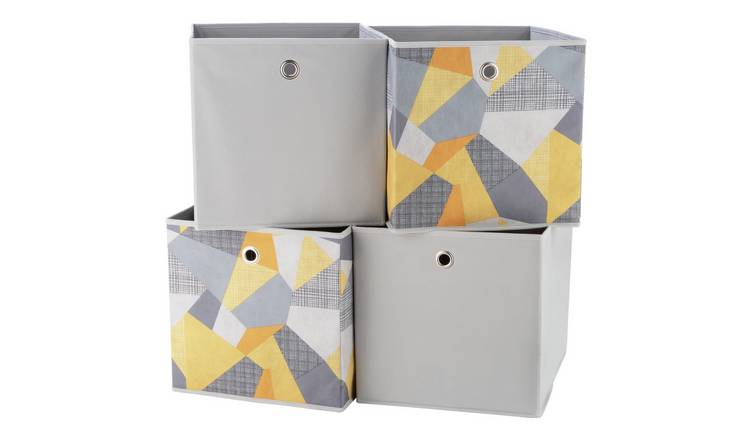 Argos Home Set of 4 Geometric Squares Plus Boxes