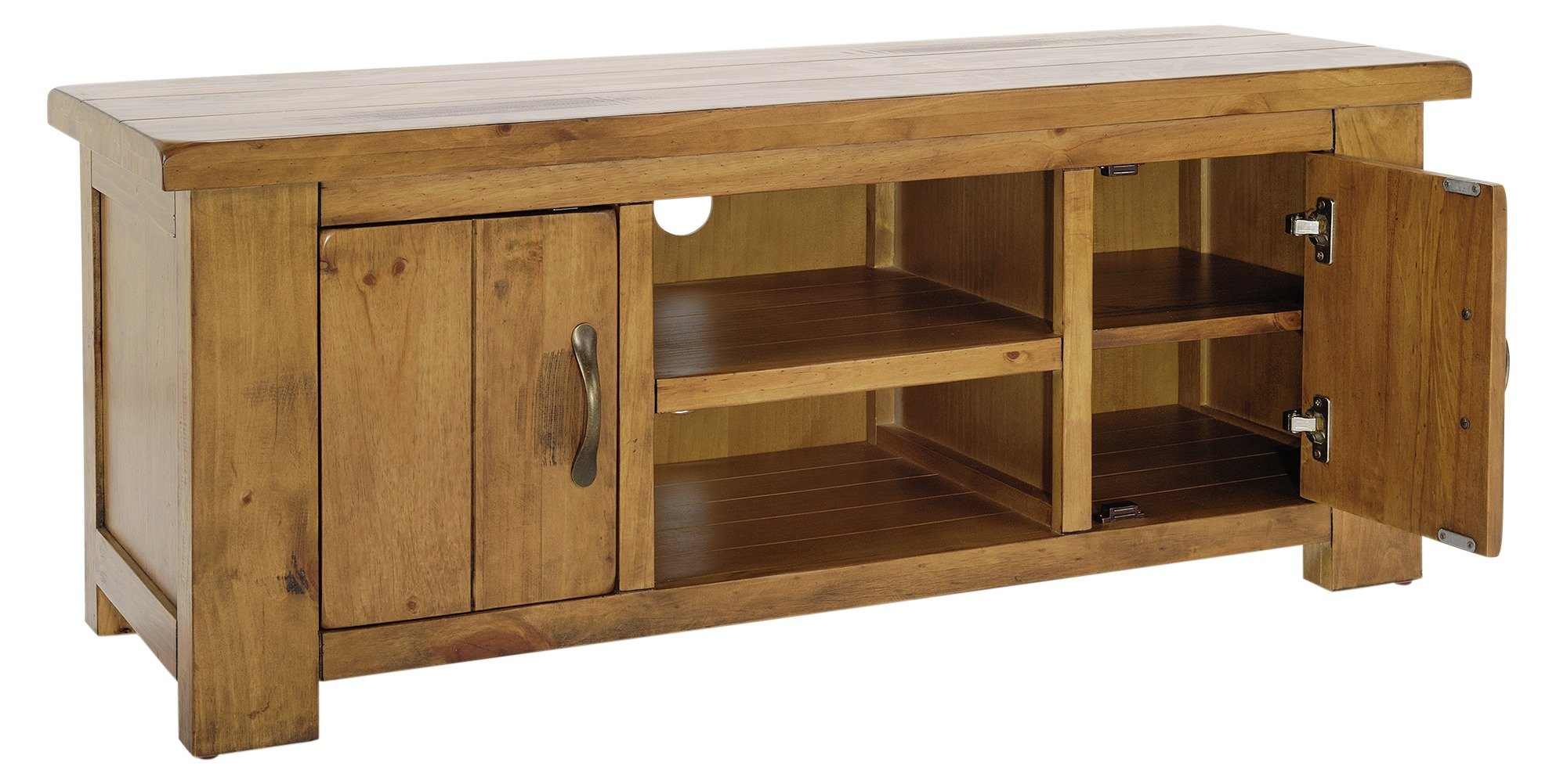 Buy Collection Arizona 2 Door Low SideboardTV Unit  Solid Pine at Argosco -> Tv Sideboard Pinie