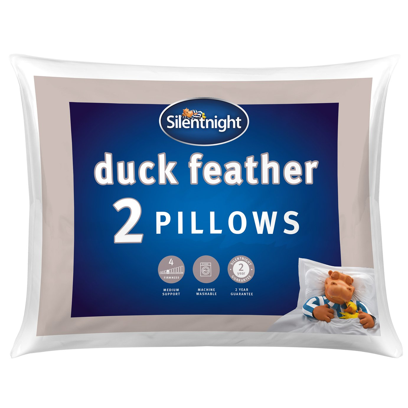 Silentnight Duck Feather Pillow - 2 Pack