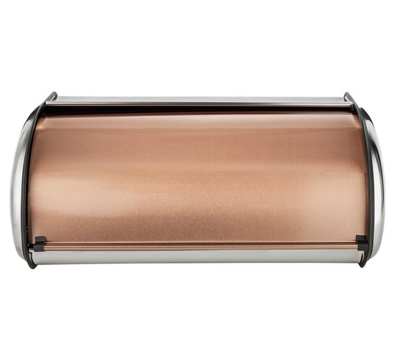 buy addis roll top stainless steel and copper bread bin at. Black Bedroom Furniture Sets. Home Design Ideas