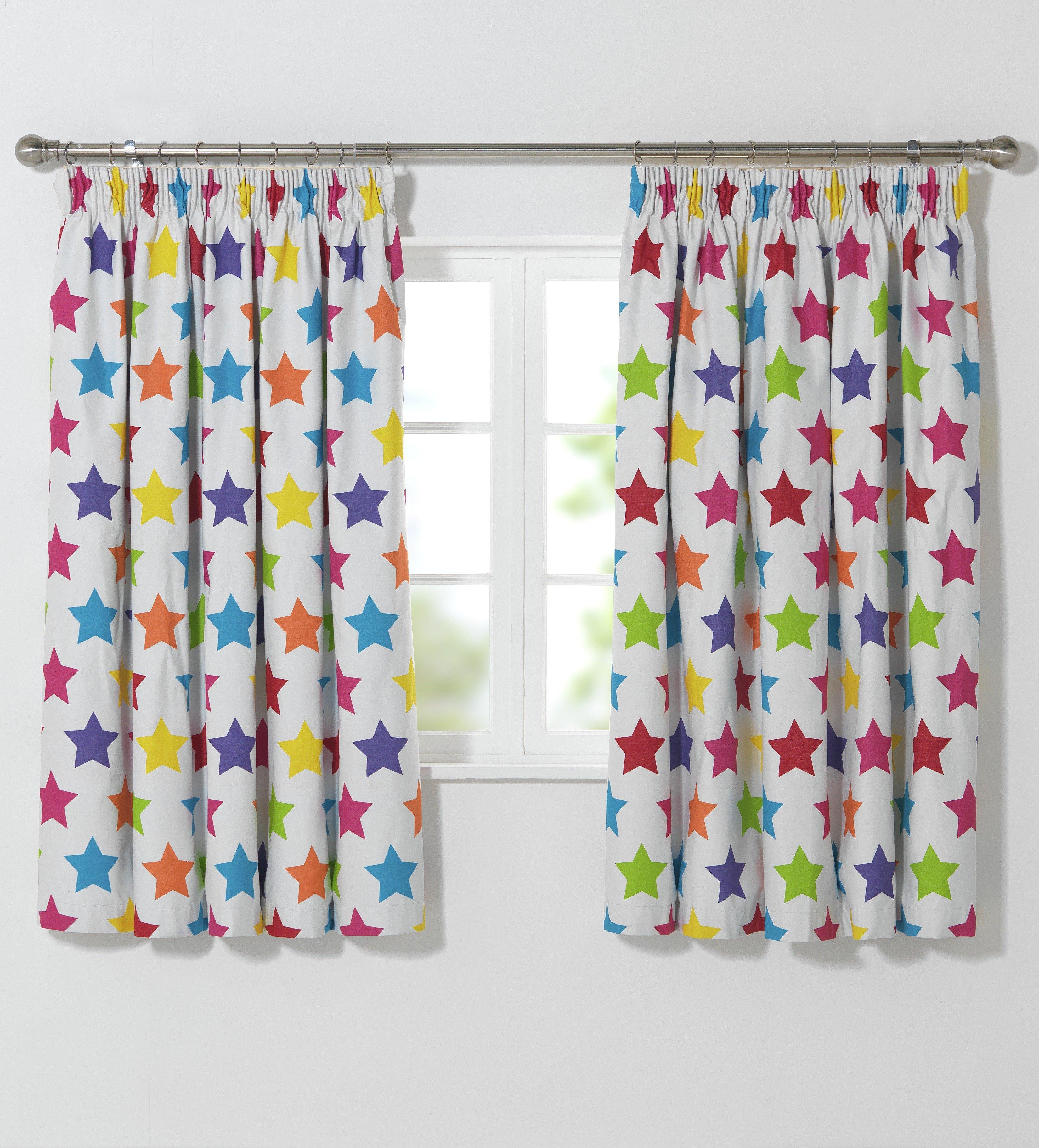 Beaded door curtains argos - Colourmatch Kid S Star Blackout Curtains 168 X