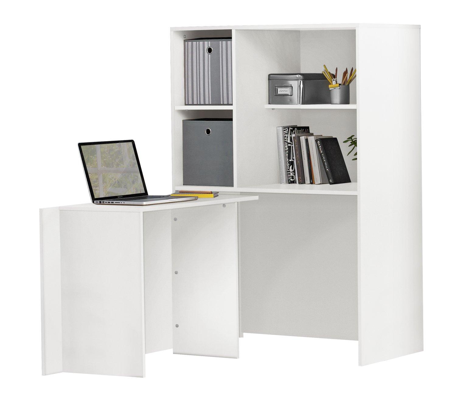 Argos Home Calgary Hideaway Corner Office Desk White 4573337 Argos Price Tracker Pricehistory Co Uk