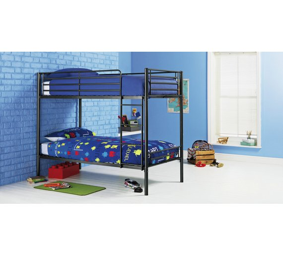 Buy Argos Home Samuel Single Bunk Bed With Kids Mattress Black