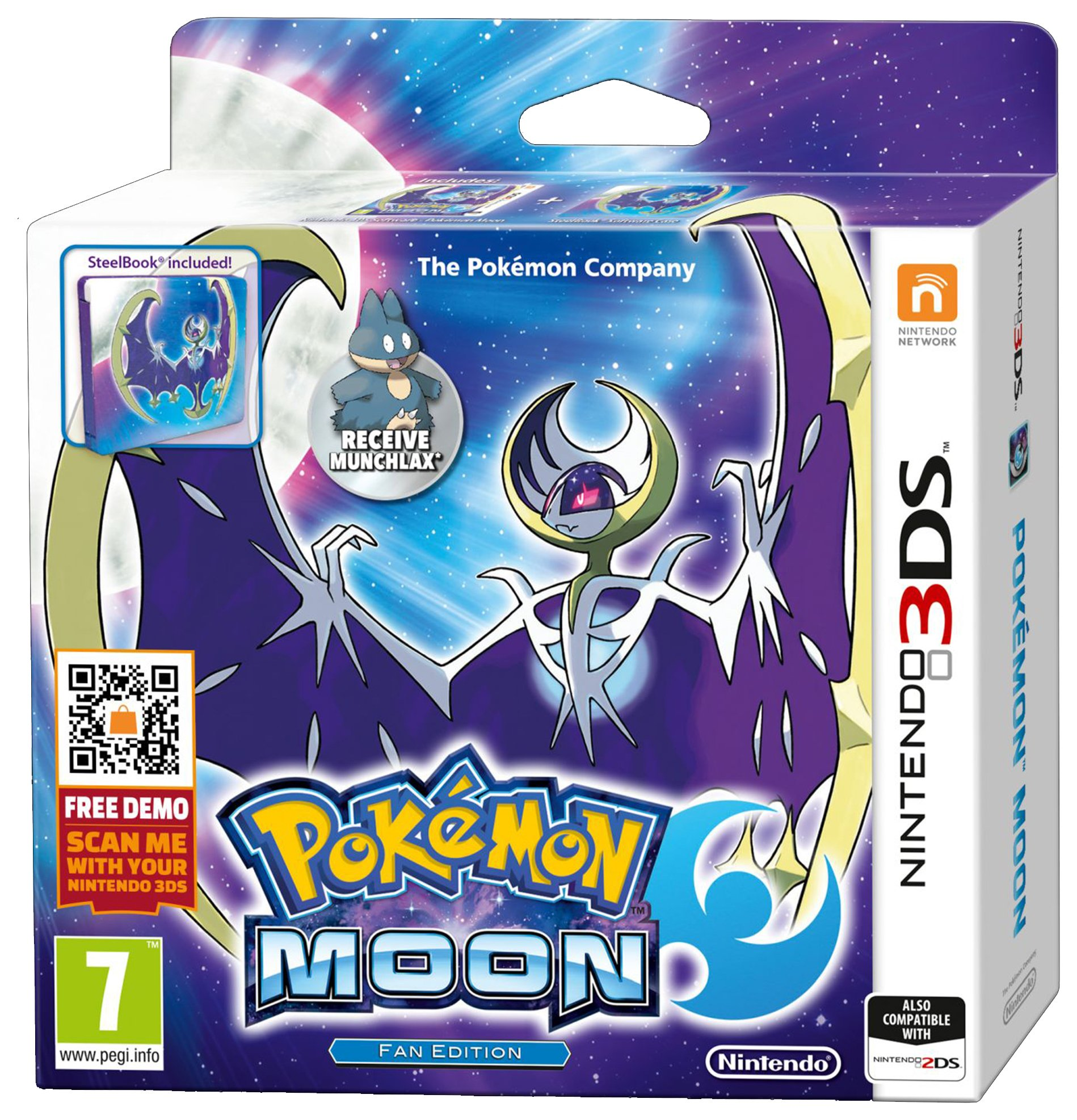 Pokemon - Moon - 3DS Game and Steel - Case