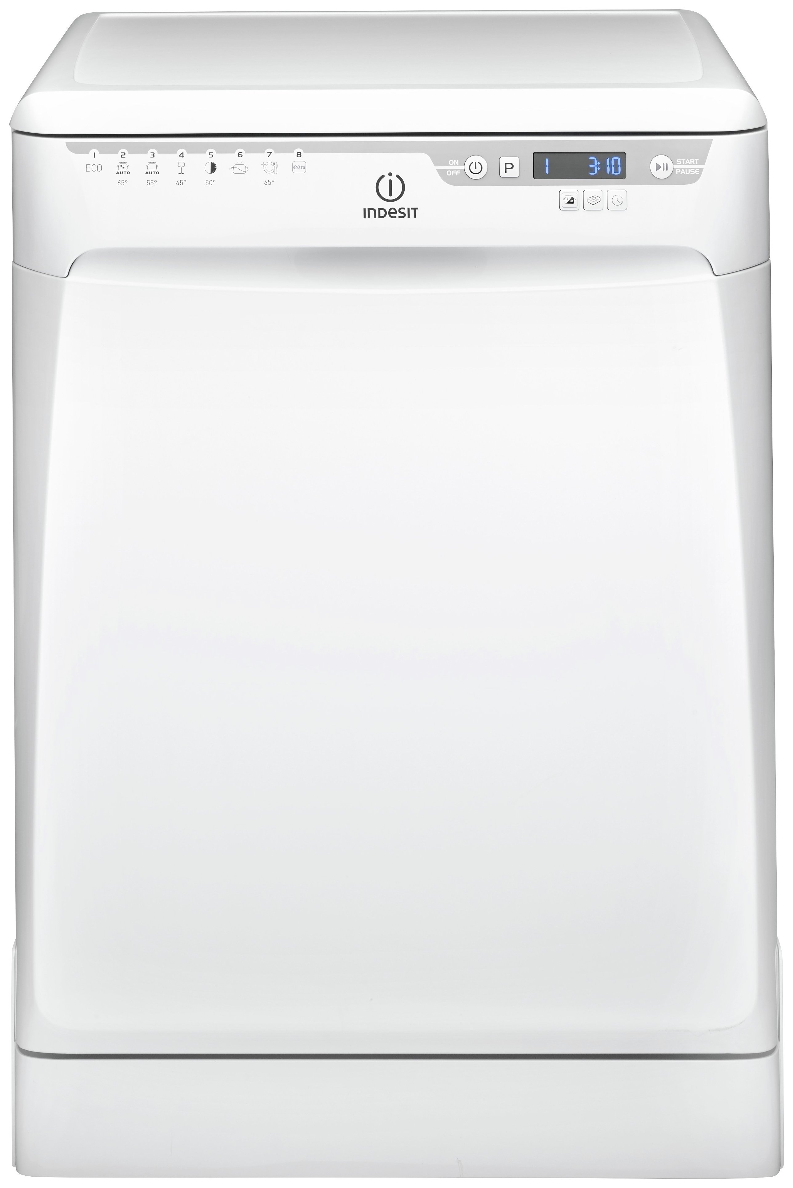Image of Indesit DFP58T94A Full Size Dishwasher - White.
