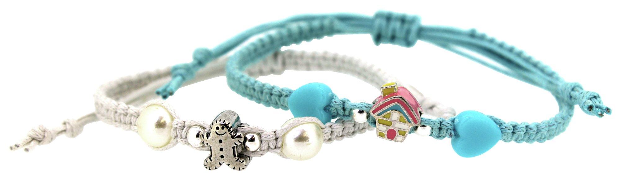 Miss Glitter S.Silver Kids Blue Shambala Bracelets - 2.