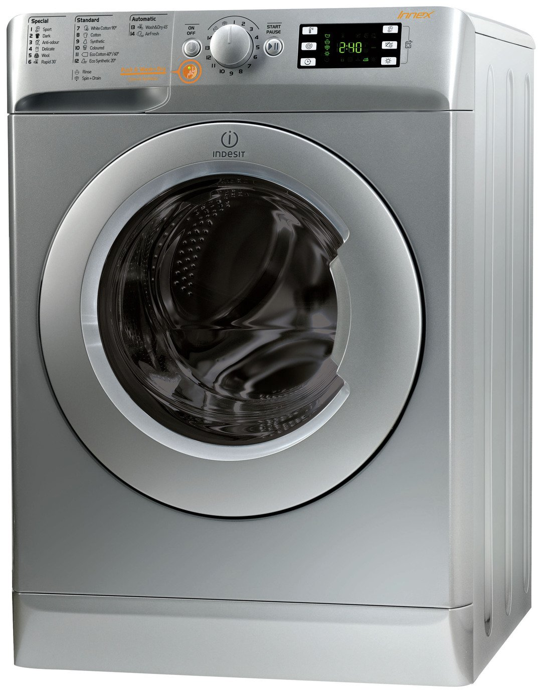 Indesit XWDE861480XS 8kg / 6kg 1400 Washer Dryer - Silver