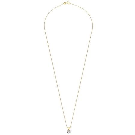 Revere 9ct Gold 0.50ct Diamond Pendant 18 Inch Necklace