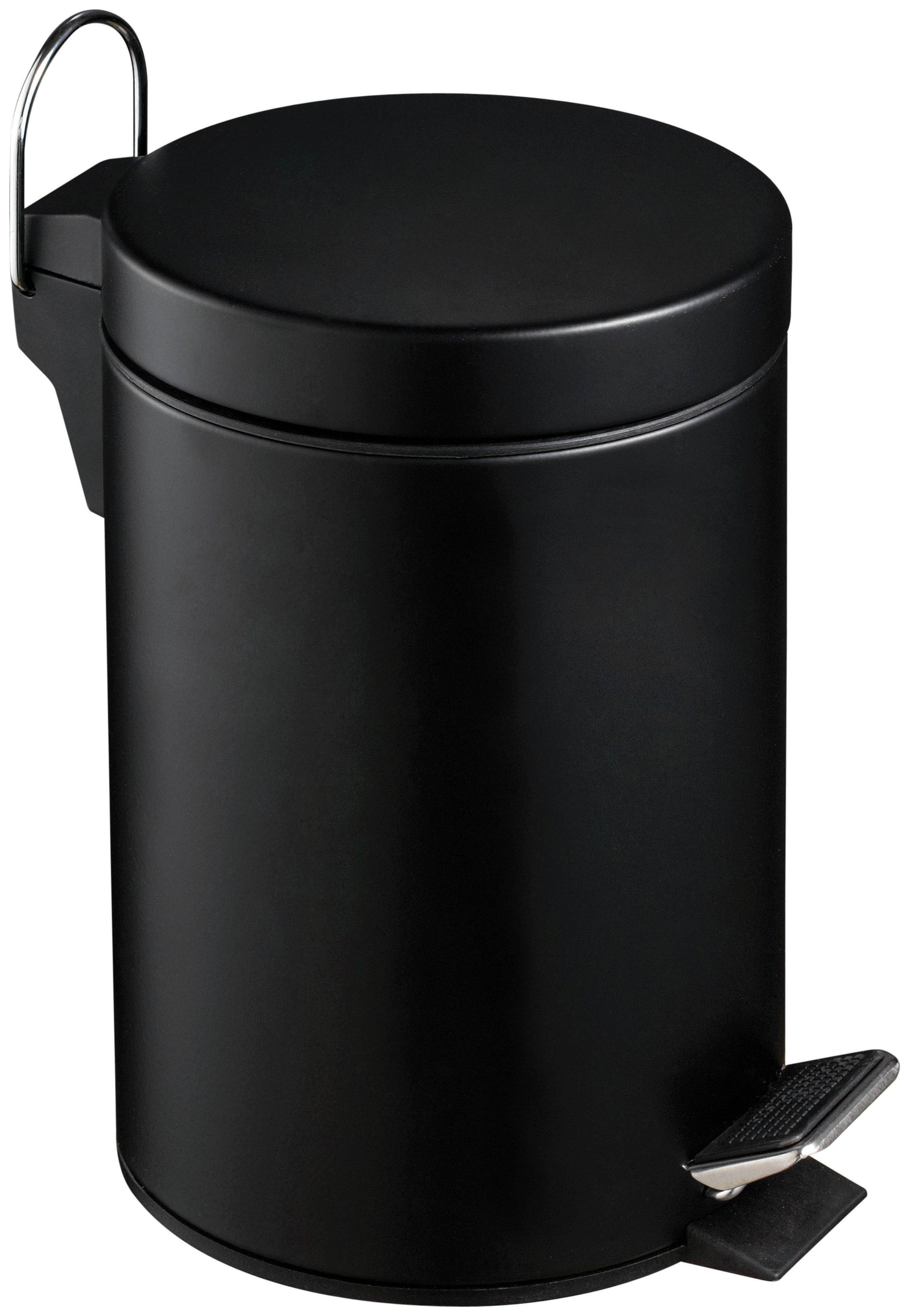 3 Litre Pedal Bin with Plastic Inner - Matte Black.