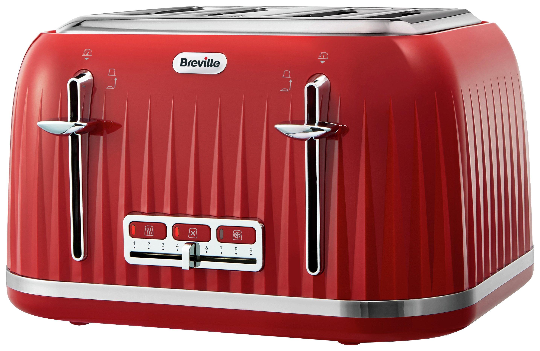 Breville - Toaster - Impressions - 4 Slice - Red