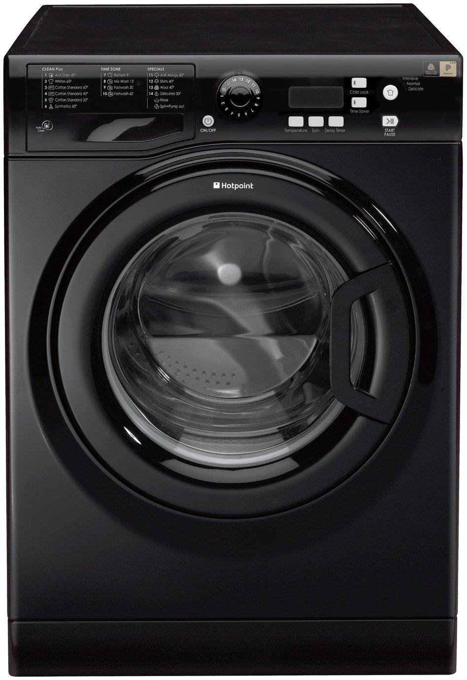 Image of Hotpoint Extra WMXTF 742K Washing Machine - Black