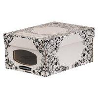 Fellowes - Bankers Box Style 4 Pack Wardrobe/Shoe Box - Black
