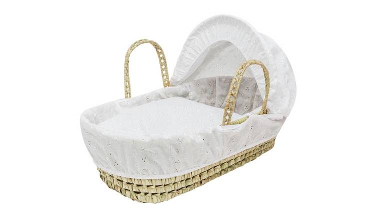 Kinder Valley Palm Moses Basket White Dimple