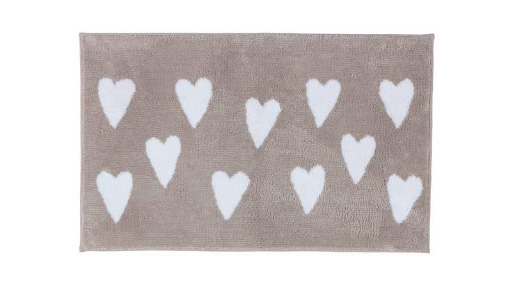 Buy Argos Home Hearts Bath Mat - Natural | Bath mats | Argos