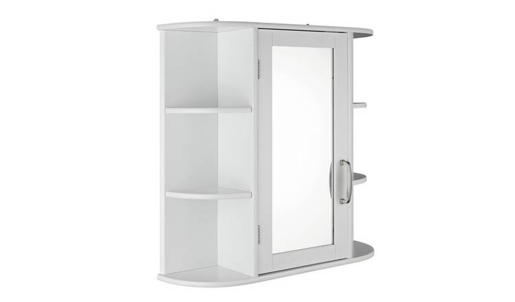 Argos Home Mirrored Cabinet with Shelves - White