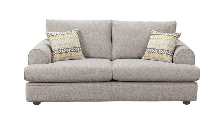 Habitat Atticus 3 Seater Fabric Sofa - Grey