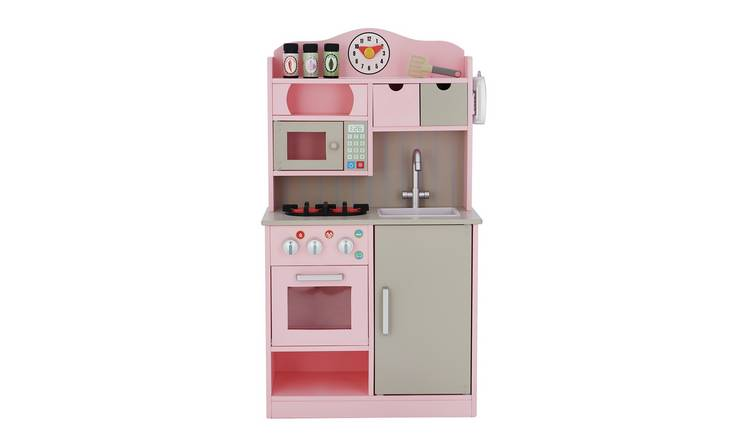 Teamson Kids Wooden Play Kitchen – Pink