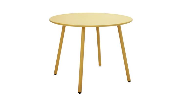 Argos Home Ipanema Round 4 Seater Garden Table - Yellow