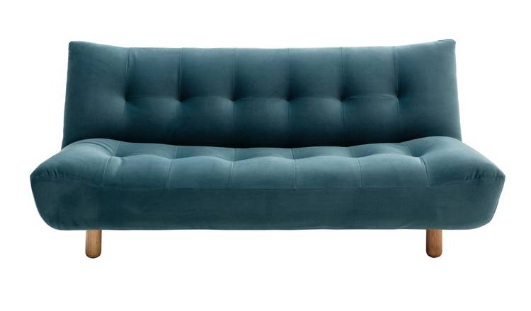 Habitat Kota 3 Seater Velvet Sofa Bed - Teal