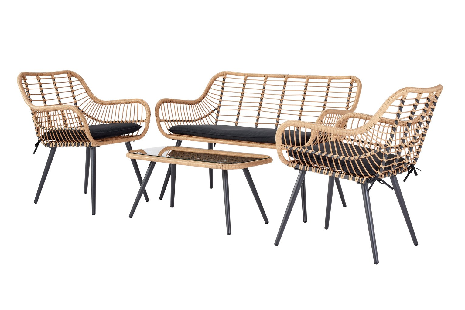 Argos Home 4 Seater Bamboo Sofa Set