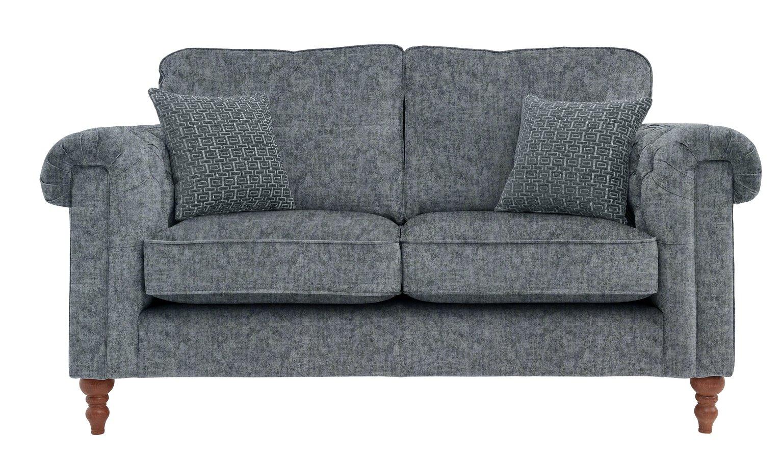 Argos Home Rebecca 2 Seater Fabric Sofa - Charcoal