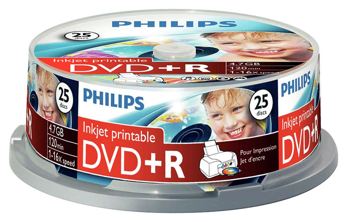 philips-dvdr-47gb-16x-pack-of-25-on-a-spindle