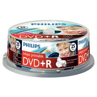 Philips - DVD+R 4.7GB 16X Pack of 25 on a Spindle