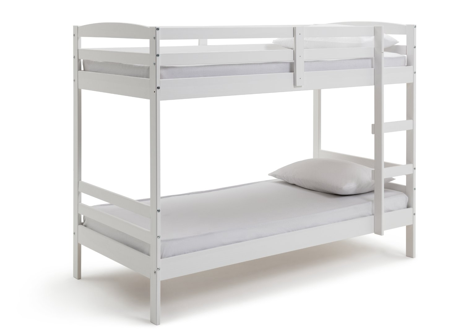 Argos Home Josie White Bunk Bed & 2 Kids Mattresses