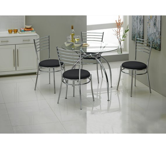 Buy HOME Lusi Glass Dining Table And 4 Chairs